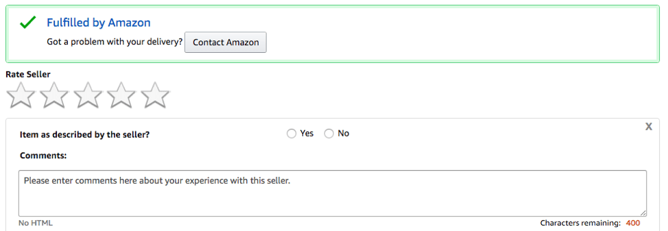 Rate Seller